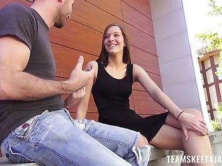 Dude fucks sex-appeal teen encircling perky tits Molly Manson