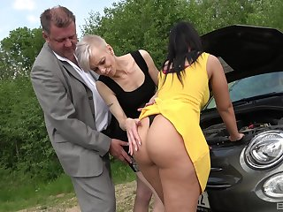 Mature shares huge inches yon big ass babe