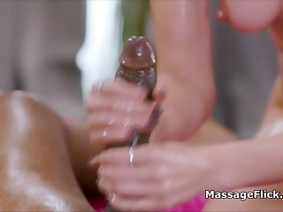 Teen masseuse milks oily BBC