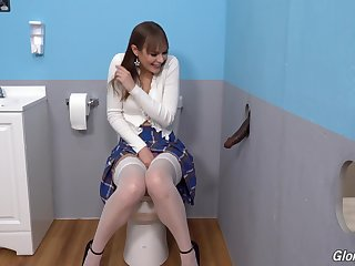 Gloryhole perfection shows someone's skin young amateur strumpet going wild on someone's skin BBC