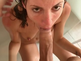 Two Cumshot involving Public Flashes and Shower Sex -Amateur Couple MySweetApple