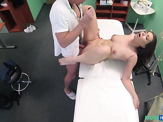 Ellie Springlare gets fucked at the end of one's tether hard doctor's dick more than the hospital's bed