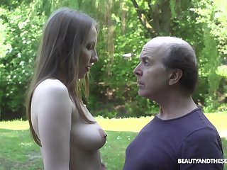 An old fart explores a eminent young cookie and lose concentration babe fucks like mad